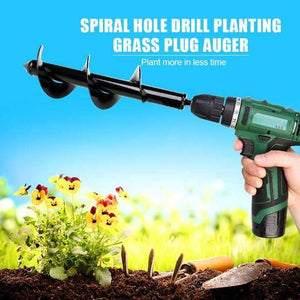 Spiral Hole Drill Planting & Grass Plug Auger - Watch Destination