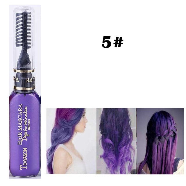 New Fashion Hair Color Cream 13 Colors Hair Color DIY Temporary Hair Dye - Watch Destination