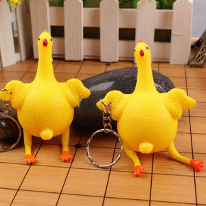 Crazy Squeezy Chicken Toy - Watch Destination