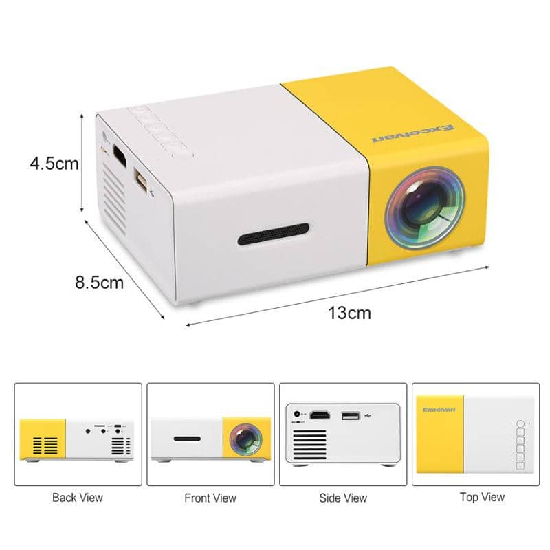 Mini Projector - Original Portable Pocket Projector - Watch Destination