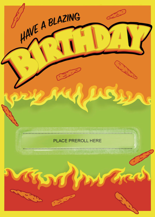 Blazing Birthday Card