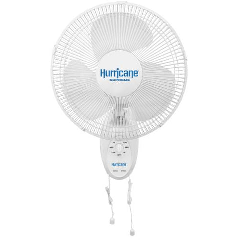 Hurricane® Supreme Oscillating Wall Mount Fan 12 in