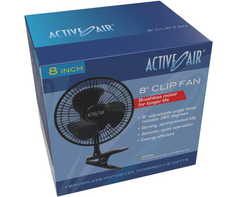 "Active Air 8"" Clip Fan, 10W"