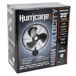 Hurricane Pro High Velocity Oscillating Metal Wall Mount Fan 20 in