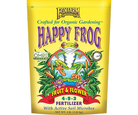 FoxFarm Happy Frog Fruit & Flower Fertilizer, 4 lb bag