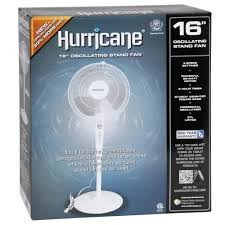 Hurricane Supreme Oscillating Stand Fan 16""