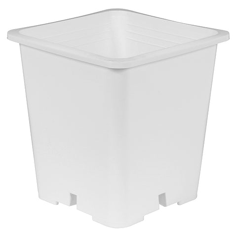 Gro Pro Premium White Square Pot 6 in x 6 in x 8 in