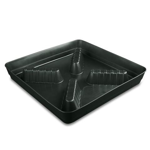"Square Farmer 10"" riser saucer black"