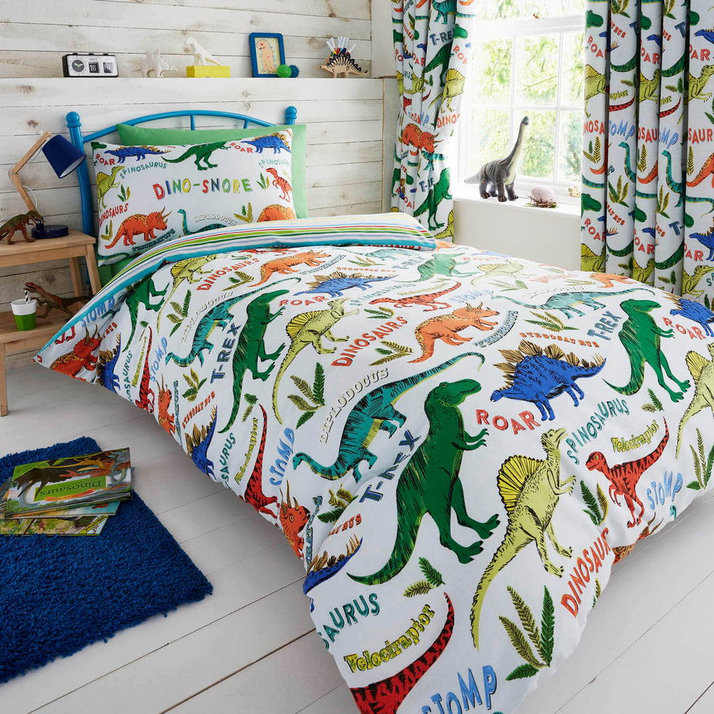 Dinosaur Bedding: Double & Single with Duvet Cover - Happy ...