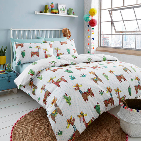 Happy Linen Company | Llama Mexicana Bedding Reverse