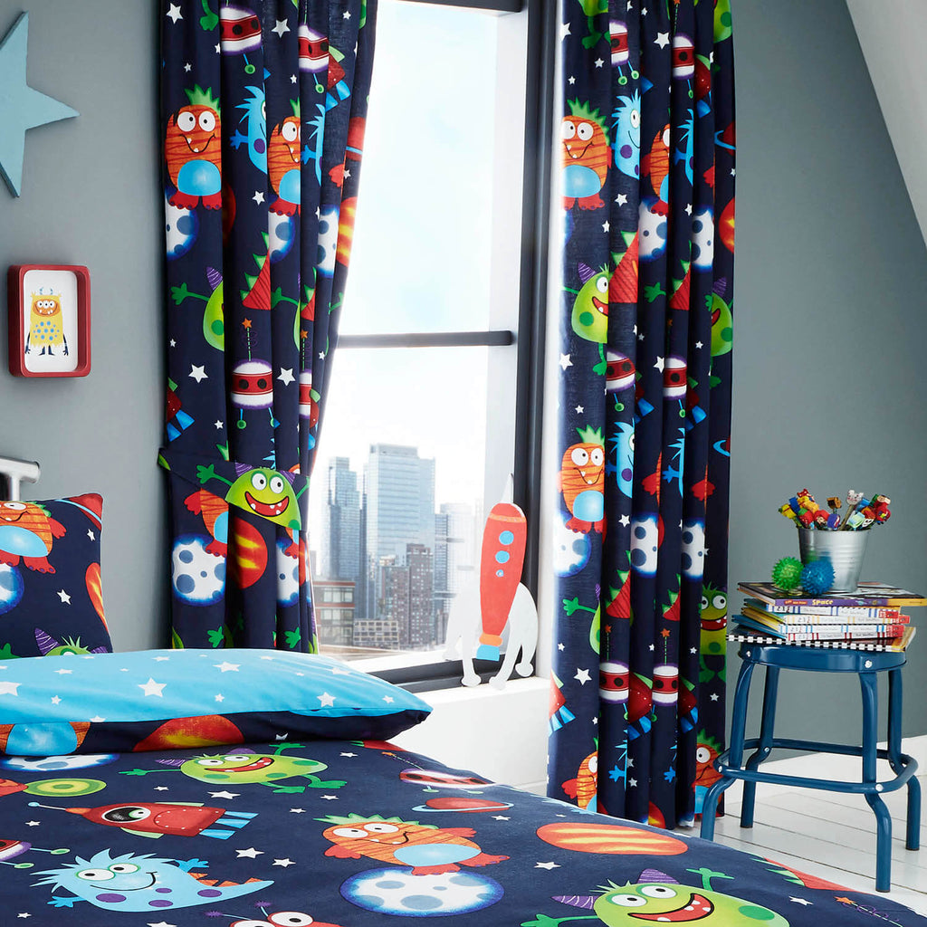 Space Monsters Curtains