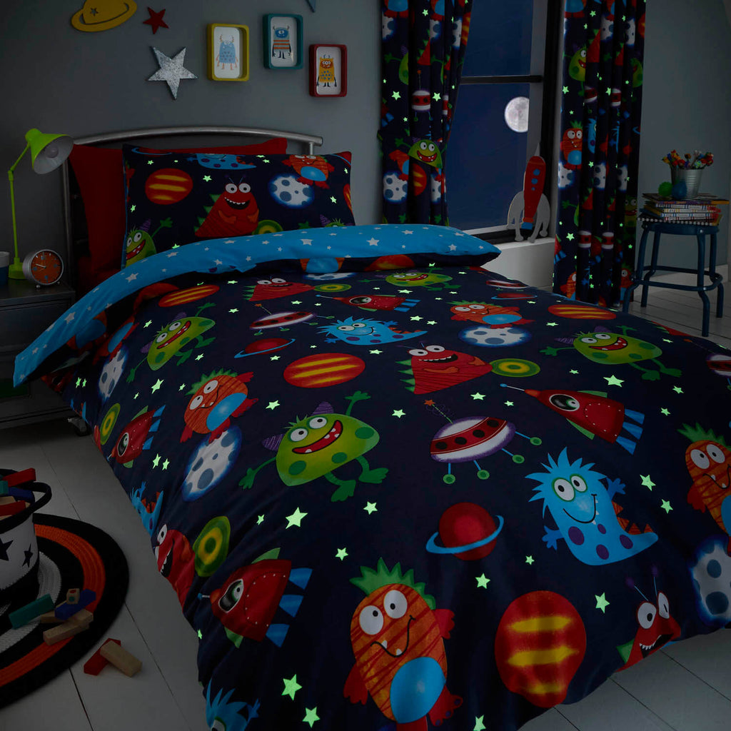 Outer Space Monster Bedding
