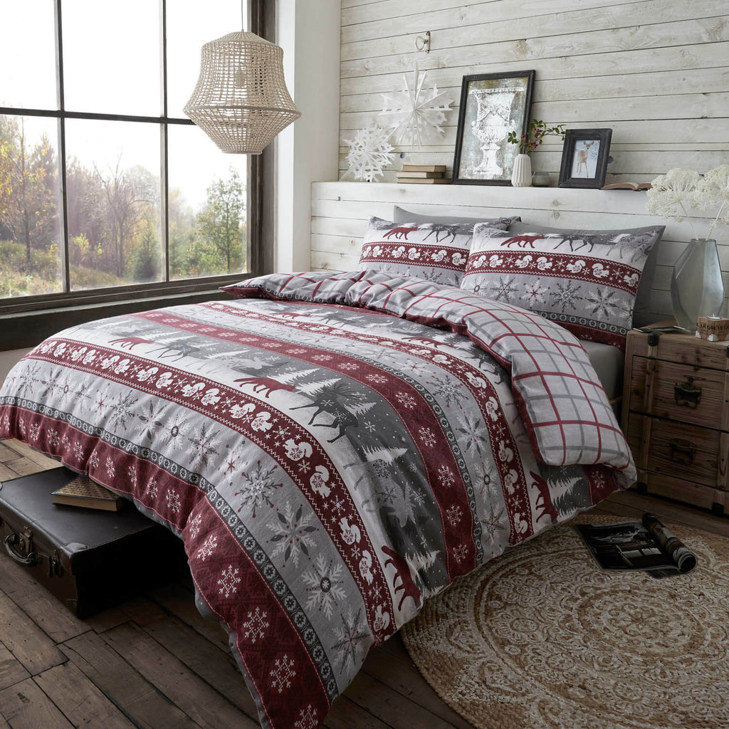 Warm Alaska Brushed Cotton Bedding