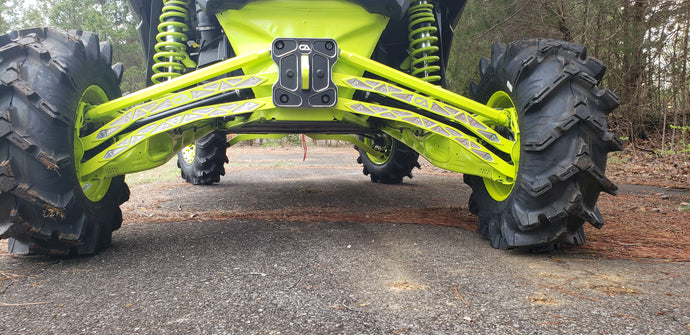 Can-Am X3 Billet High Clearance Radius Rods / Arms Increases ride height for a canam X3. Made from Billet Aluminum for maximum durability and least amount of weight. Excellent for off road trail riding and rock crawling