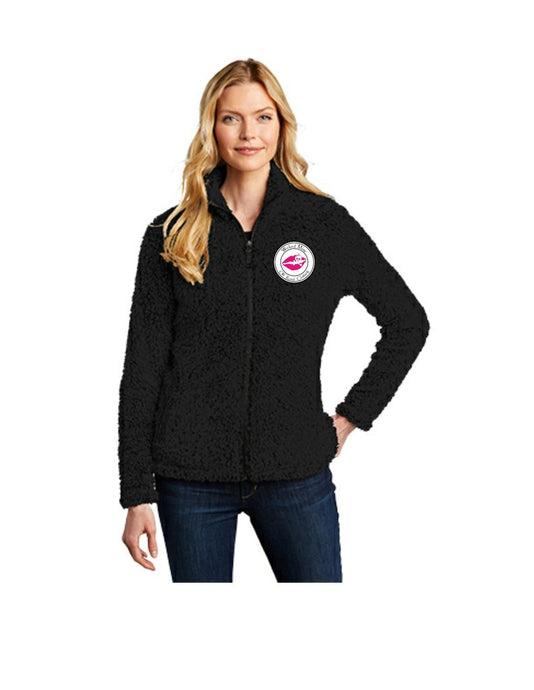 WM Sherpa Jacket Ultra-soft meets cozy warmth in the layer able sherpa fleece jacket! Ideal for cooler days or cozy nights by the fire. It's comfortable, versatile and designed to fend off the chill in Wicked Miss style.  6.8-ounce, 100% polyester sherpa fleece reverse coil zipper Dyed-to-match neck tape, zipper and zipper pull Open front pockets Open cuff and hem Machine wash cold separately. Do not bleach. Tumble dry low. Remove promptly. Fits true to size