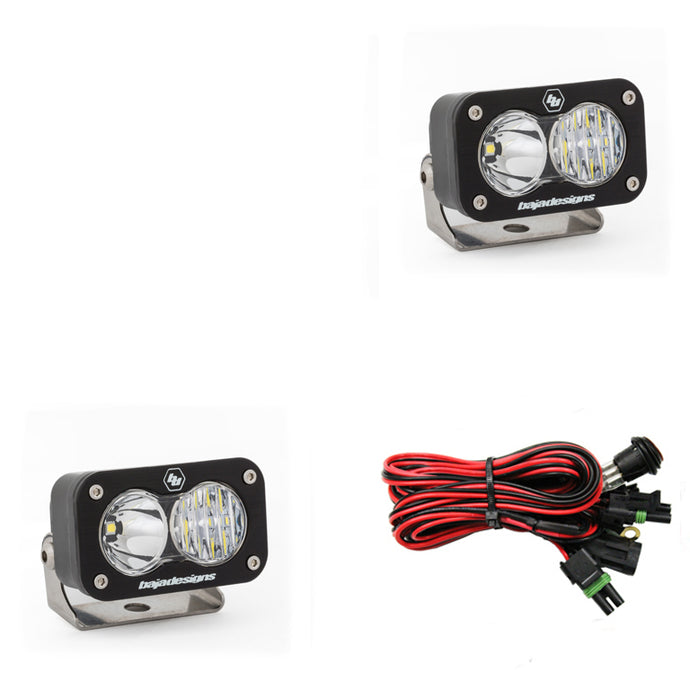 S2 Sport Pair Driving/Combo LED The S2 Sport features the same quality, fit, and finish that is synonymous with the Baja Designs name, at an attractive price point. The S2 Sport is ideal as a fog, cornering, rack, or reverse light and much more. A compact and powerful light, featuring quality that is second to none.
