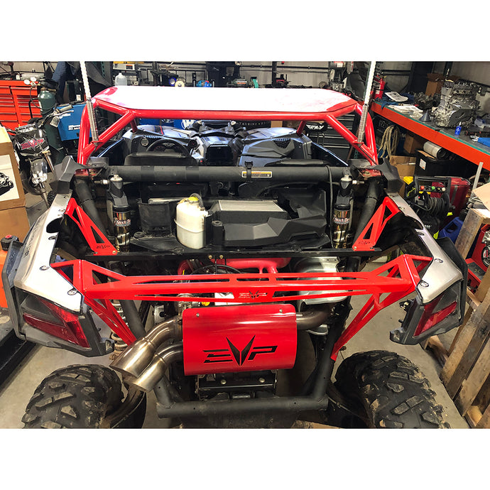 Can-Am Maverick X3 Bed Delete Remove weight, add bling and make your X3 far more accessible with the EVP Maverick X3 Bed Delete!  Refined over many months for both looks and functionality, then race tested for durability. Includes stainless steel mounting hardware.  Available in black and raw aluminum.