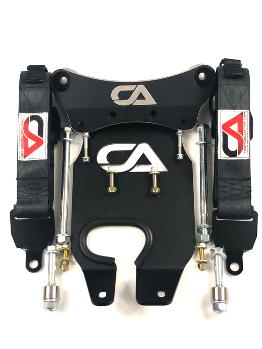 Ca-Am X3 Front Suspension Limit Strap System  Don't let your axles pop out of the differentials anymore, with our limit straps protect your axles & suspension components by preventing the over extension of your  suspension. Our easy to install kit allows to cushion the drop and protect the shocks, axles, & steering components from damage caused by over extension.