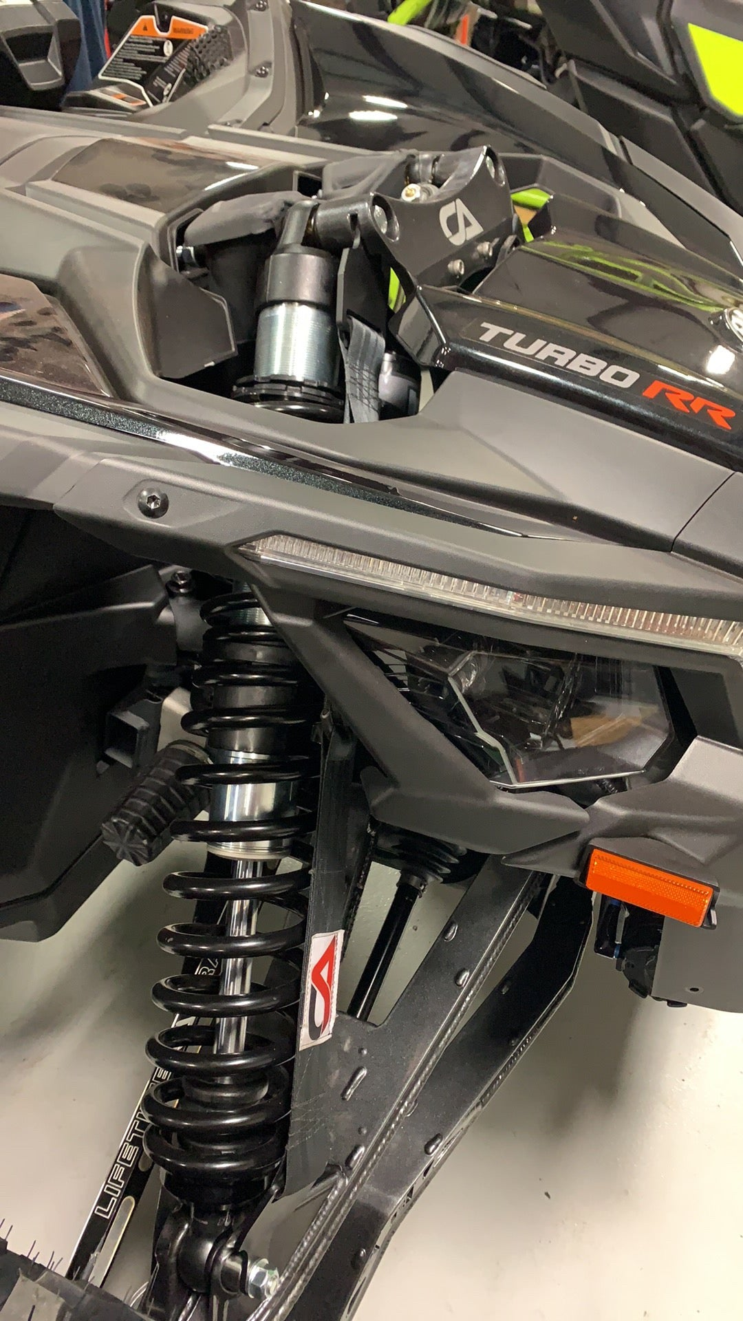 Can-Am X3 Front Suspension Limit Strap System
