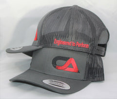 Gray Black And Red Snap Back