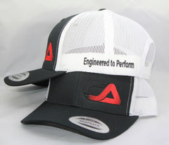 Black White and Red Snap Back