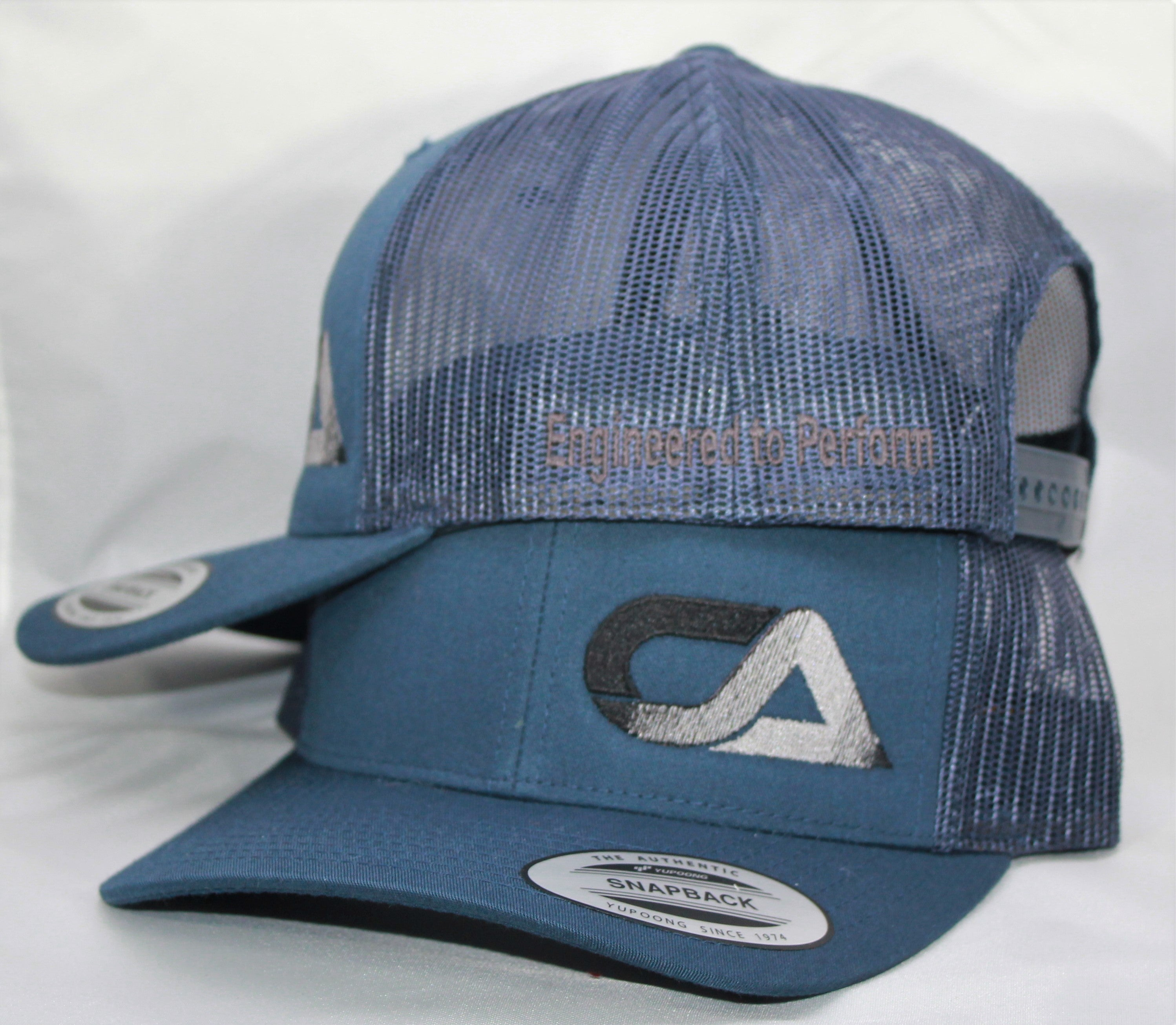 Blue and Gray Snap Back
