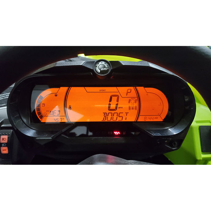 2020 Can-Am Maverick X3 Dash Cluster Reflash with Boost, AFR, and Belt Temp The EVP DCR enables the customer the option to display boost pressure on their OEM dash cluster without any wiring, running hoses, etc. The DCR takes the boost pressure reading directly from the ECU and displays it on the dash, which is not available without our upgrade.