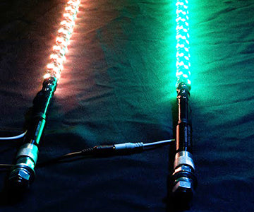 2 LED 5150 Whips With Bluetooth 4ft.