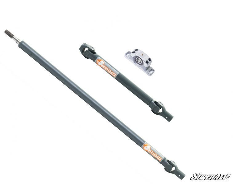 Polaris RZR XP 1000 Heavy Duty Rhino Prop Shaft Rhino Driveline Prop Shafts are the strongest prop shafts you can get and come paired with C-Series CV joints or U-series U-joints that wear less and run smooth. Bolster your driveline's backbone with SuperATV's expertise.