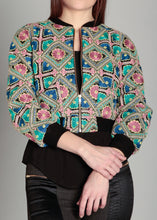 Load image into Gallery viewer, Embroidered Crop Jacket