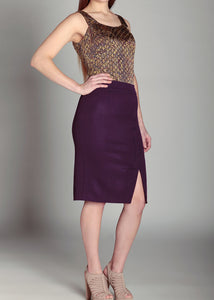Overlay Pencil Skirt Amethyst