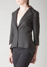 Load image into Gallery viewer, Avery Flannel Blazer Dark Charcoal