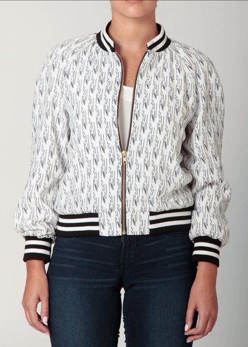 Black & White Baseball Jacket