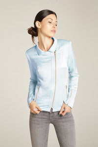 Ice Blue Moto Jacket