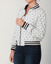 Load image into Gallery viewer, White & Black Baseball Jacket