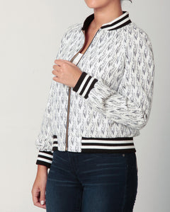 White & Black Baseball Jacket
