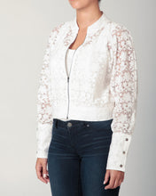 Load image into Gallery viewer, White Lace Crop Jacket