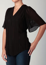 Load image into Gallery viewer, Bell Sleeve Blouse Black