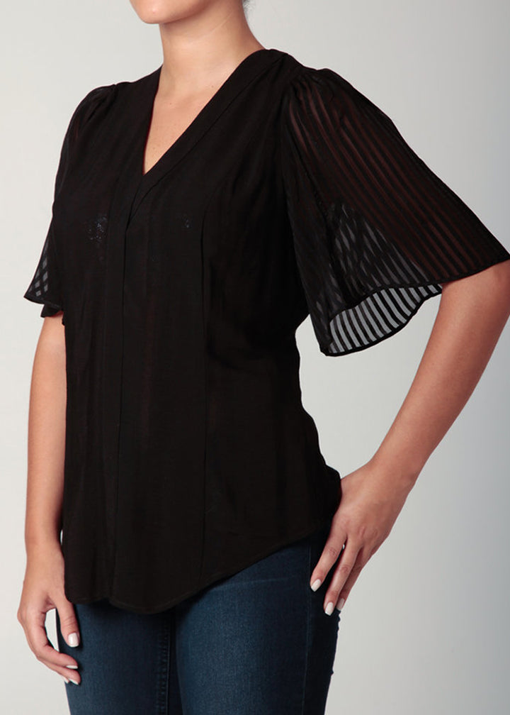 Bell Sleeve Blouse Black