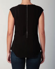 Load image into Gallery viewer, Cowl Neck Blouse Black