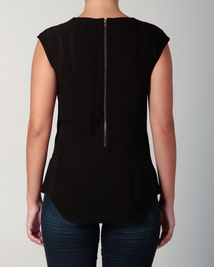 Cowl Neck Blouse Black