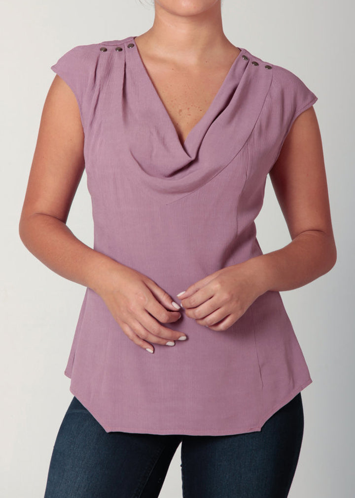 Cowl Neck Blouse Blush