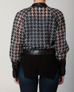 Organza Crop Jacket Black