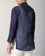 Load image into Gallery viewer, Mesh Kimono Jacket Navy