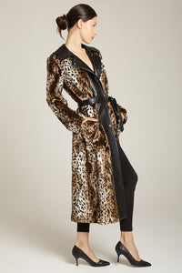 Leopard Faux Fur Long Coat