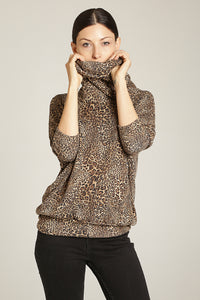 Leopard Knit Top