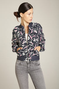 Navy Blue & Blush Baseball Jacket