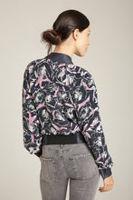 Load image into Gallery viewer, Navy Blue & Blush Baseball Jacket