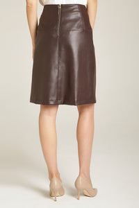 A-Line Skirt Chocolate Brown