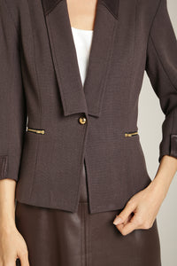 AYSHA Blazer Chocolate Brown